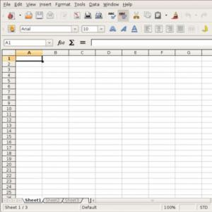 An electronic spreadsheet