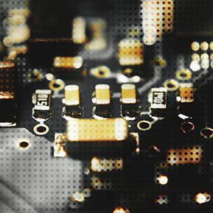 Close-up image of a circuit board